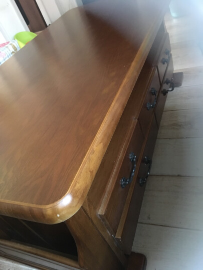 玖美茶几实木茶几桌沙发边几小户型客厅茶桌简约现代小茶几 咖啡色中号1m 晒单图