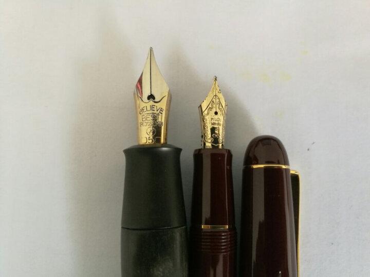 百乐(PILOT) 顺丰 日本 custom 经典74 14K金 钢笔 墨水笔 深绿色 F尖 晒单图