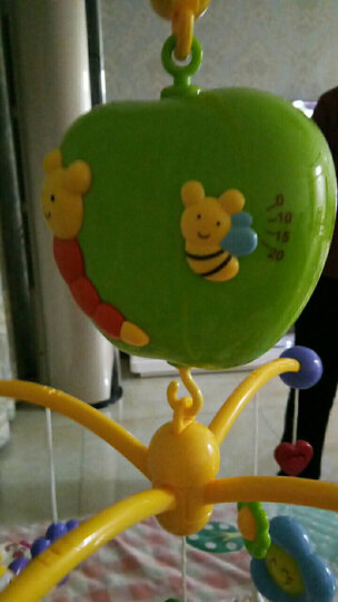 谷雨婴儿宝宝床铃风铃玩具0-1岁新生儿幼儿床头摇铃0-3-6-12个月玩具安抚助眠音乐旋转礼物 优惠组合4(床铃+谷雨游戏桌) 晒单图