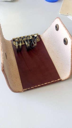 布朗克钥匙包锁匙收纳包银行卡包头层牛皮真皮纯牛皮男女挂腰 6把钥匙+3张卡 1112K 挂腰304-1红啡 晒单图