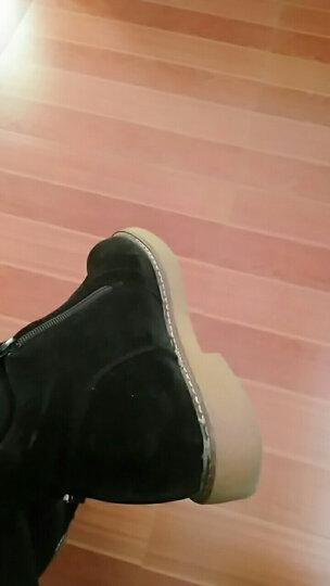 短靴女春春夏单靴春夏鞋2018新款春夏季女鞋子女靴子平底英伦风马丁靴 拉链黑色 39 晒单图