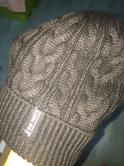 Siggi 帽子男冬天韩版潮时尚针织帽毛线帽加厚加绒防风套头帽 黑色 57.5CM有弹性 晒单图