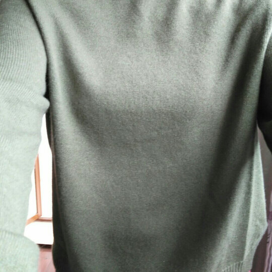 【全羊绒】哥弟女装 天衣无缝全成型 2019秋冬新款圆领长袖纯羊绒衫套头针织衫女毛衣A300073 粉 L(4码) 晒单图