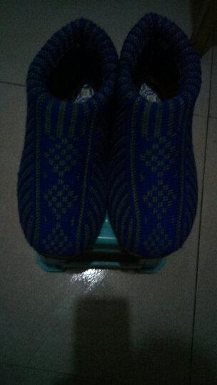 冬季保暖编织毛线鞋 男士女士 中老年选色高帮棉鞋棉靴gqq ⑧红紫嘴鱼 42-43适合39-40 晒单图