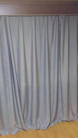 梦达莱 北欧简约现代窗帘成品 全遮光加厚防晒隔热客厅卧室阳台办公室飘窗落地窗帘布料免打孔定制 烟灰色 【挂钩】2.0米宽x2.7米高 1片 可剪短 晒单图