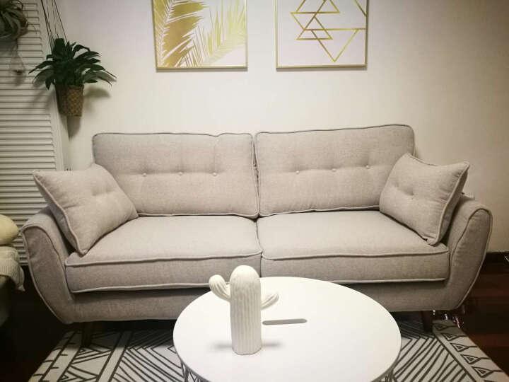 北欧沙发 小户型沙发 客厅三人沙发布艺组合 米兰时尚单人双人沙发 简约卧室小沙发6920 羽绒款(可选颜色) 方脚踏(0.7*0.7米) 晒单图