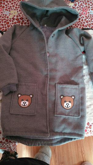 牧马熊(MUMAXIONG) 童装女童外套呢大衣中长款外套中大童上衣呢子儿童外套冬季加厚 灰色 110(适合身高95-104cm) 晒单图