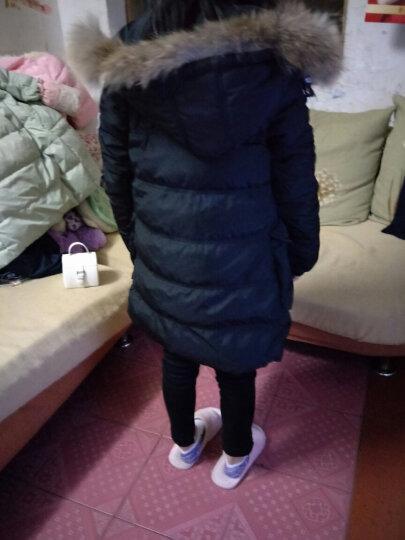 皮皮班纳(PIPIBANNA) 女童羽绒服中长款2017中大女童冬装白鸭绒加厚毛领外套 1896款-红色 140建议身高135-145 晒单图
