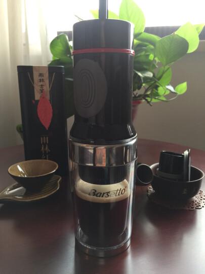 Barsetto 迷你便携式 手动意式浓缩户外车载多功能手压胶囊咖啡机 钢琴黑 晒单图