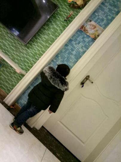 灵灵猴(LLingmonkey) 童装儿童羽绒服男女童冬装男宝宝大真毛领婴儿加厚小孩衣服 9212奢华红色(羽绒棉填充) 110约95-105cm身高 晒单图