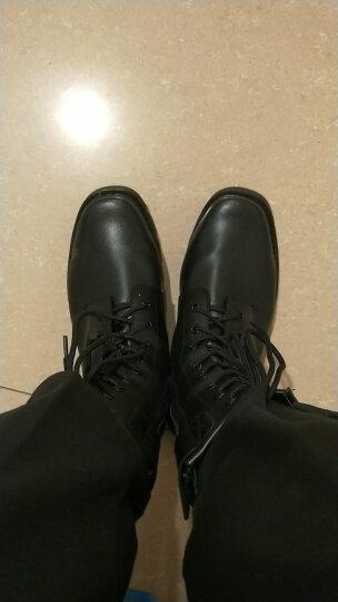 春秋爆靴男作战靴特种兵军靴配发高帮军勾战术靴保安鞋沙漠作训 黑色(钢头钢底)单款 41 晒单图