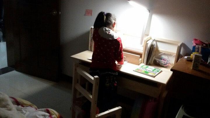 美梦居 儿童学习桌 实木松木桌 写字桌学生课桌椅可升降学习桌简约小学生画画桌写字台 卧室书桌 B款带书架原木无漆桌椅套装 桌长100cm 晒单图