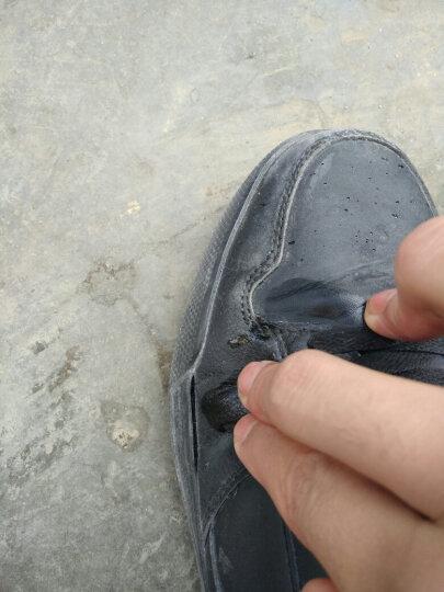 美特斯邦威春男高帮板鞋男舒适高帮时尚板鞋202145 黑色组 250mm(40) 晒单图
