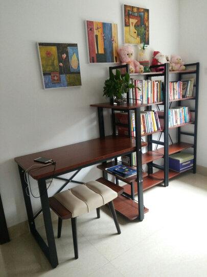 意尚格简易书架置物架多层储物架组合书柜学生书架落地展示架 白色钢架+白枫板 六层/长0.6米 晒单图