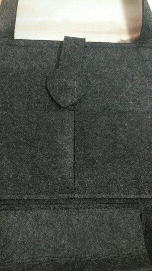 途睿 汽车装饰用品多功能座椅改装后背挂袋防踢垫储物收纳袋箱车内杂物纸巾盒装饰车载置物袋 时尚棕-单个装 晒单图