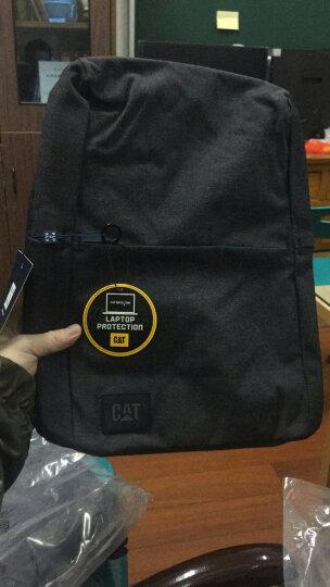 CAT/卡特双肩包男士极简都市设计背包休闲商务笔记本15.6英寸电脑包旅行运动学生书包 黑色 晒单图