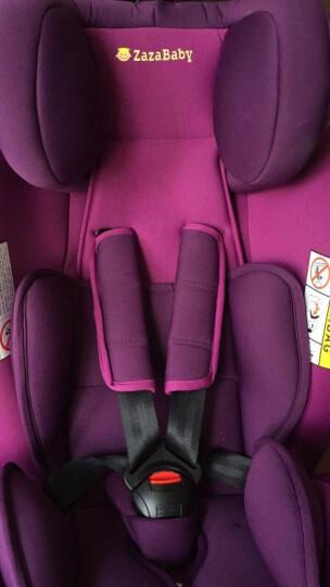 Zazababy 安全座椅 可旋转正反双向isofix硬接口 0-12岁宝宝汽车坐椅 斑马纹 晒单图