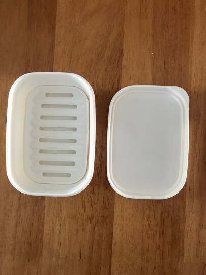 进口不漏水可爱创意便携式带盖子密封出差旅行用肥皂盒沥水速干洗脸手工精油香皂盒架双层圆形肥皂碟小香皂碟 方形2个装 晒单图
