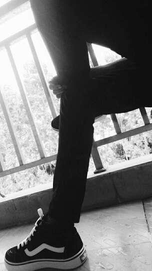 英伦高帮情侣鞋2017新款黑白色高帮女鞋男鞋韩版潮流条纹高腰滑板鞋男女学生青年百搭潮运动鞋 图片色 39 晒单图