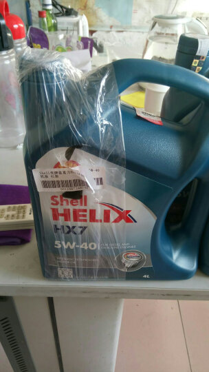 壳牌(Shell) 壳牌润滑油机油 蓝壳hx7 黄壳hx6半合成 空调出风口便捷水杯支架(赠品单拍不发货) 晒单图