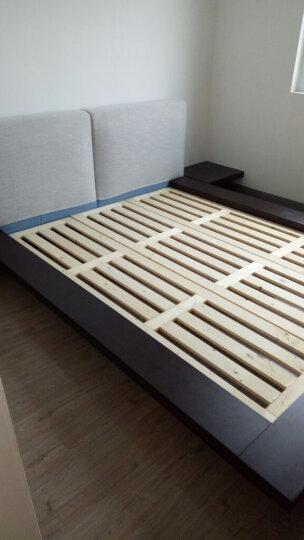 维玛现代简约主卧板式双人1.5/1.8米矮床板式北欧榻榻米床定制板床 情趣踏踏米公寓床 黑橡木饰面 1800*2000 晒单图
