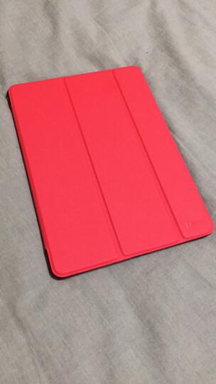 毕亚兹 苹果2018/2017新款iPad平板保护套 防摔休眠三折支架9.7英寸皮套 保护壳 PB13-红色 晒单图
