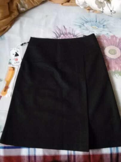 AMZI 2018春季新款中青年女装优雅斜搭片装饰韩版修身显瘦格子半身裙女短裙包臀裙 白格子 XXXL--2尺4--31码--140斤左右 晒单图