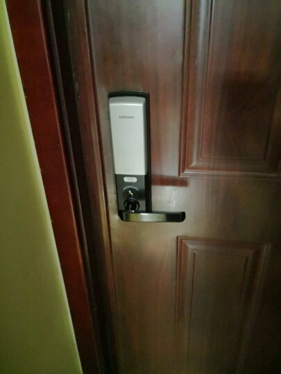 三星samsung指纹锁电子锁智能门锁密码锁家用防盗门锁SHS-H705 金色 晒单图