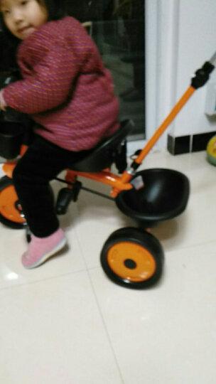 乐卡(Lecoco)儿童三轮车多功能婴幼儿童脚踏车1-3-5岁简易自行车多功能手推车 宝丽橙 晒单图