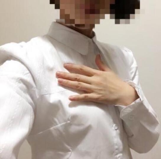森扮白衬衫女长袖2018新款韩版职业OL工作服上衣棉短袖衬衣 白色 加绒 M(建议95-105斤穿着) 晒单图