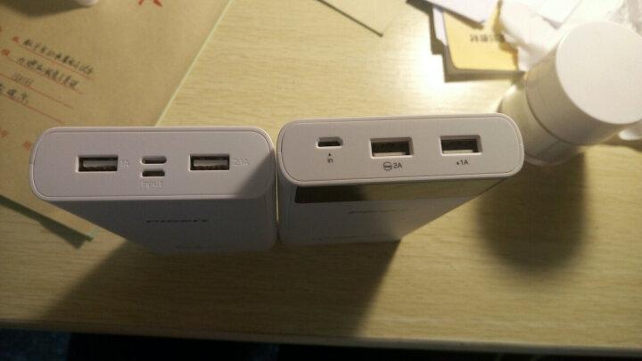 品胜(PISEN)20000毫安 移动电源/充电宝大容量 双USB输出 液晶数显 LCD电库二代 白色 适用于平板/手机等 晒单图
