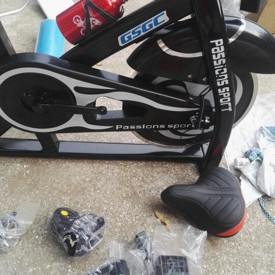 GSGC 动感单车健身车家用健身器材静音健身单车室内运动健身器械 S9005 黑色风火轮 晒单图
