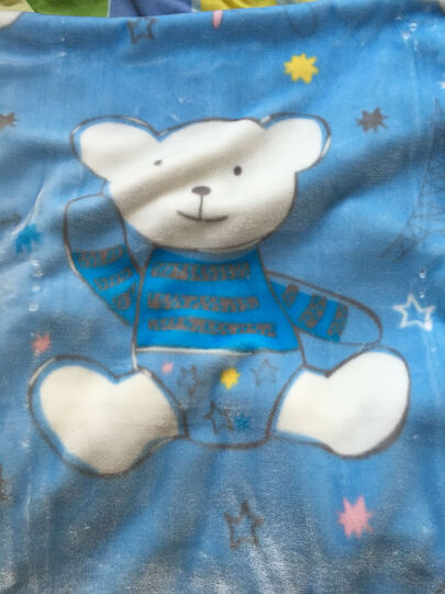 好孩子(gb) 婴儿毛毯冬小宝宝毯子儿童盖毯幼儿园空调毯四季通用 升级款云毯蓝双层加厚【帆布包】 晒单图