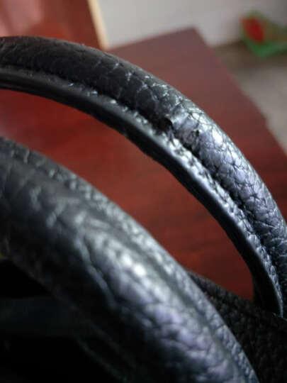 淑女芭莎(SHUNVBASHA)单肩包女包上新时尚简约挂件斜跨手提包包8902 黑色 晒单图