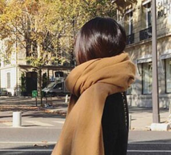 包邮许你一生三生三世女秋冬季新品加长加厚保暖纯色 羊毛流苏 时尚优雅披肩围巾女 墨绿 200 晒单图