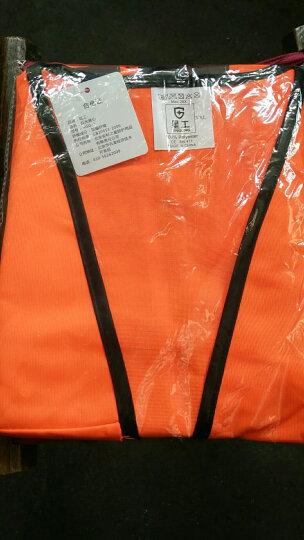 星工(XINGONG)实用型反光背心 交通指挥道路施工夜间作业反光服工作服 免费印字 荧光橙 XXL 晒单图