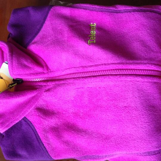 telent 天伦天秋冬款女士抓绒衣防水保暖透气外套女休闲运动舒适外套上衣663503 紫色/深紫 L 晒单图