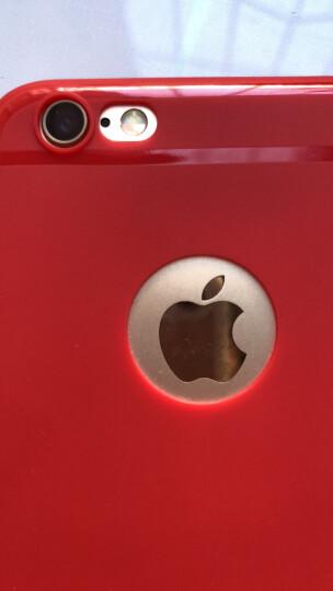 摩斯维 苹果6s手机壳iPhone6/6S Plus保护套硅胶防摔男女潮薄款全包磨砂软壳 6/6s 4.7英寸-樱桃红【壳膜套装】 晒单图