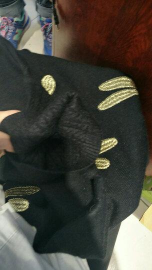 姿衍秋冬新款女装韩版针织衫女套头高领毛衣女冬厚短款修身绣花蜻蜓图案打底针织毛衫 黑色 XL 晒单图