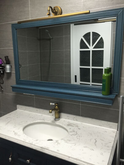 贝尔格兰 仿古水龙头欧式龙头 全铜美式浴室柜台面盆 复古龙头 仿古色经典加高款 晒单图
