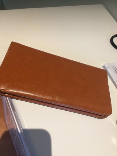 YOCY钱包卡包手机壳保护皮套双机收纳包华为Mate20proP30三星S10+苹果XSMAXR通用 棕色 晒单图