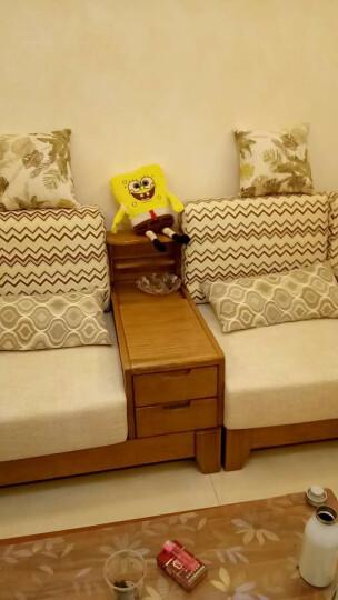 裕木源 沙发 实木沙发组合中式布艺转角贵妃沙发 现代客厅沙发白蜡木 组合6 (双人位*贵妃椅) 2.51m 晒单图