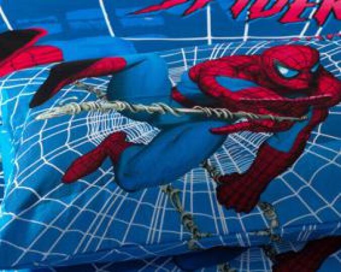 星月恋家纺水洗棉床上四件套纯棉床上用品套件儿童卡通三件套全棉床单被套 青春 160cm*210cm三件套床单款 晒单图