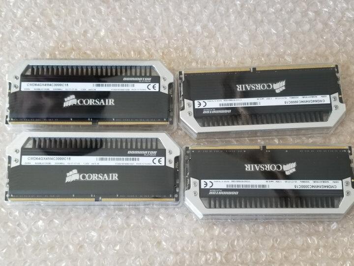 美商海盗船(USCORSAIR) 统治者铂金 DDR4 3200 16GB(8Gx2条) 台式机内存 DDR4 3000 64GB套条16Gx4条灯条 晒单图