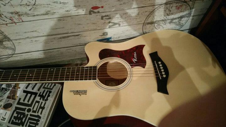 卢森(Rosen) 卢森Rosen吉他民谣木吉它40寸41寸初学者乐器guitar R-135木色 41寸 晒单图