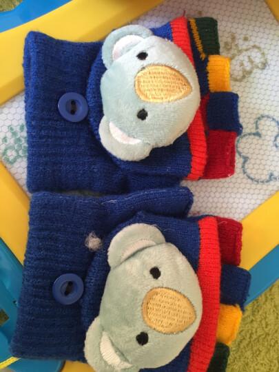 贝迪牛(badynoo) 可爱萌宝宝男女儿童冬季保暖露手指半指翻盖两用魔术手套2-6岁 女孩金丝羊绒半指手套 均码2-6岁 晒单图