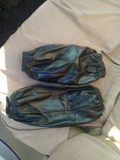 皮革袖套防水防油套袖男女长款厨房家务清洁护袖头加大厚手袖 19无货时,随机发 晒单图