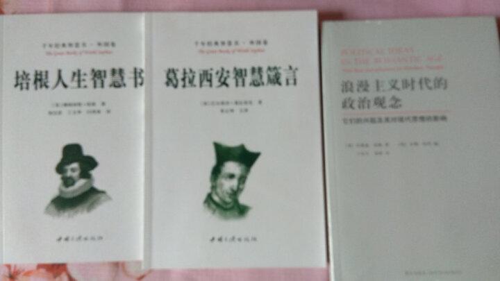 浪漫主义时代的政治观念-它们的兴起及其对现代思想的影响 晒单图