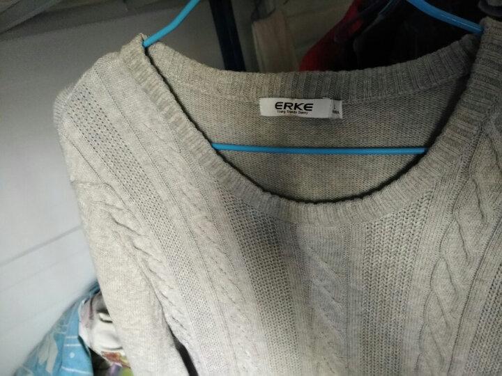 鸿星尔克男开衫卫衣针织衫毛线衫306 亮紫蓝花灰 L 晒单图