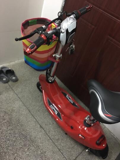 诺美健(nuomeijian) 小海豚女士迷你折叠电动车 电动自行车 电动滑板车学生代步 香槟色 配置一:有刷电机+蓄电池+充气后轮 【实惠热卖】 晒单图